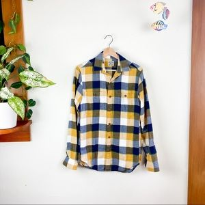 J Crew Flannel Long Sleeve Button Down Shirt XS